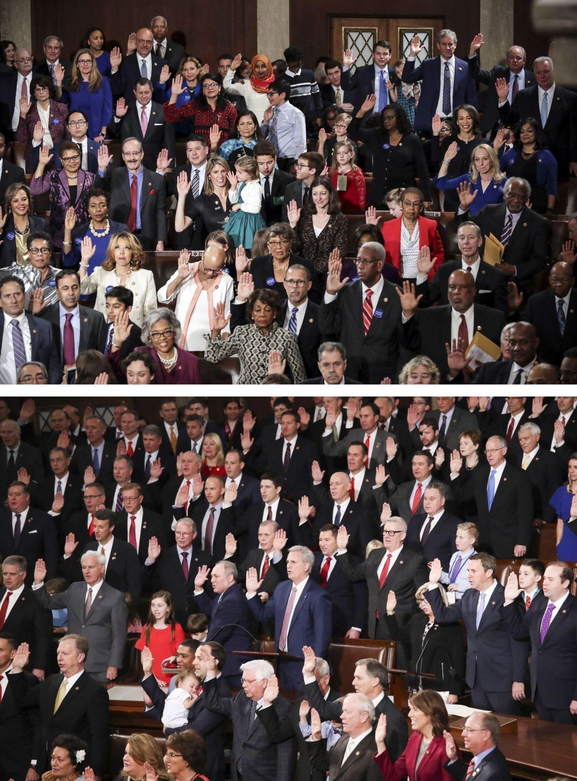 Congress swearing in: Democrats vs. Republicans : pics