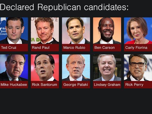 Declared Republican candidates (2/2)