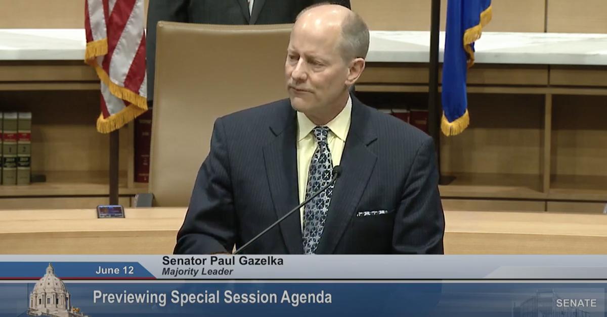 Gazelka Says Senate GOP to Vote on Ending Walz Emergency ...