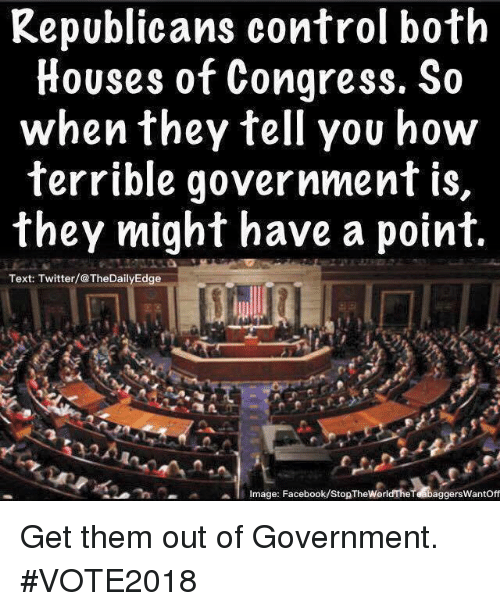 republicans control both houses of congress so when they