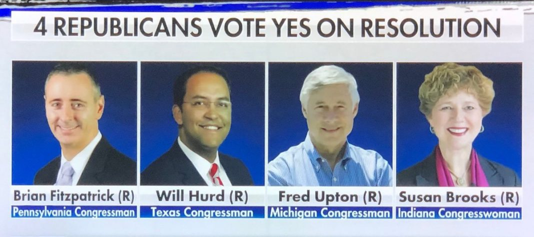 these four coward republicans voted for pelosi racist