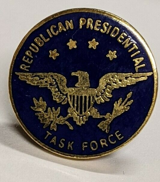Vintage Republican Presidential Task Force Lapel Pin ...